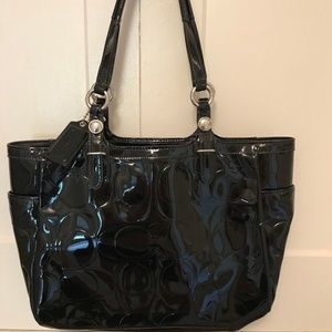 Coach patent leather black handbag